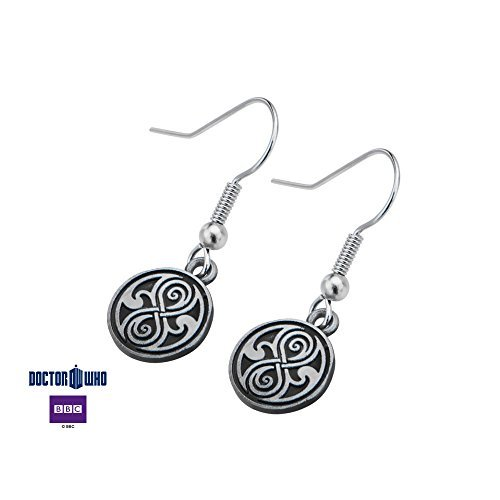 Doctor Who The Seal of Rassilon Dangle Earrings Antique Tin Finish Stainless Steel (Doctor Who Seal Of Rassilon Ring compare prices)