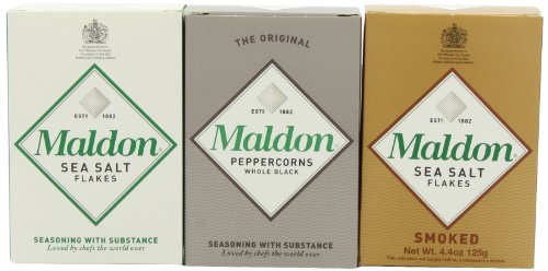 Maldon Triple Gift Pack (Sea Salt, Smoked Sea
