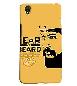 Blue Throat Fear The Beard Logo Printed Designer Back Cover For OnePlus X