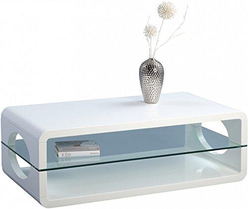 HomeTrends4You 206750 Couchtisch, 118 x 40 x 60 cm, weiß Hochglanz günstig