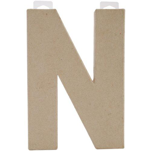 """Paper Mache Letter 8""""X5-1/2""""-Letter N"""