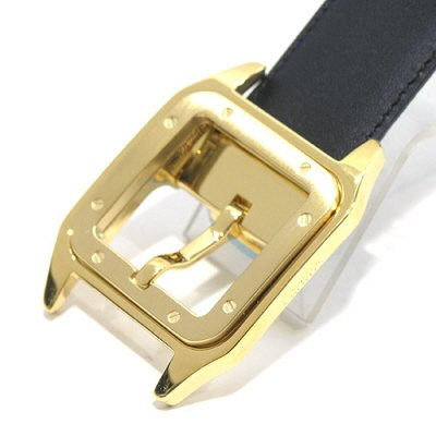 Cartier - Santos 100 Buckle Black / Brown Reversible Belt
