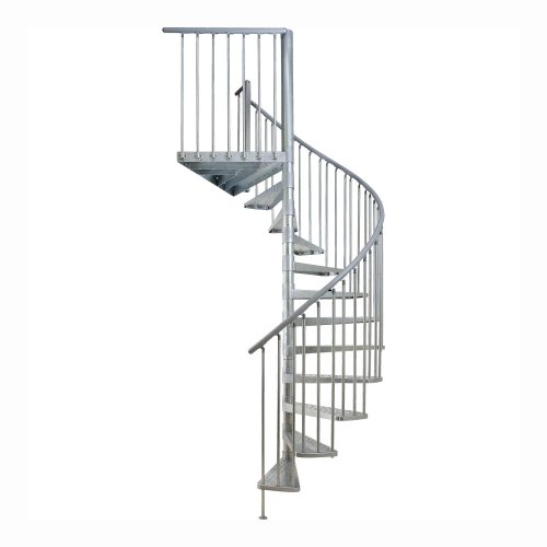 Dolle Toronto Spiral Staircase Kit – 61″ Diameter, 85″ to 109″ Adjustable Height