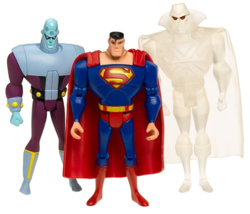 Buy Low Price Mattel Justice League Unlimited 3-Pack: Clear Martian Manhunter, Brainiac and Superman Figure (B00030LR0Y)