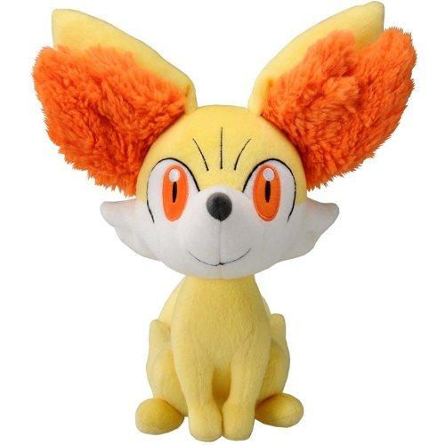 Japan Official Pokemon - Fennekin Cute Character Stuffed Toy Medium Size Yellow Animal Mascot Fire Type Fox Beans Collection Wonderful Interior Decorative Gift