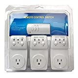 3-pack Wireless Remote Control Outlet Switch 1200 watt 100 Feet