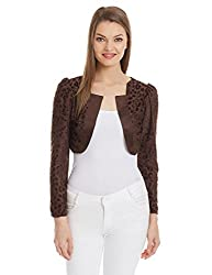 Meee Women's Body Blouse Shirt (MEEE-004937_Brown_Small)