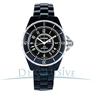 Chanel J12 Black Ceramic Automatic Midsize Unisex Watch H0685 from Chanel