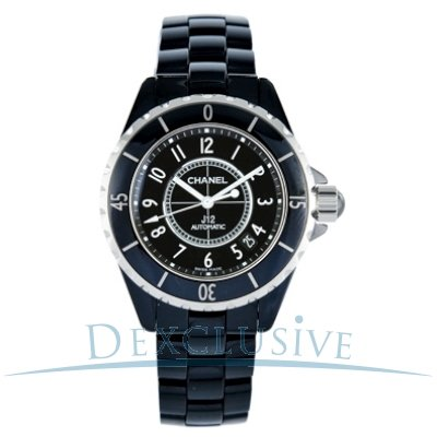 Chanel J12 Black Ceramic Automatic Midsize Unisex Watch H0685