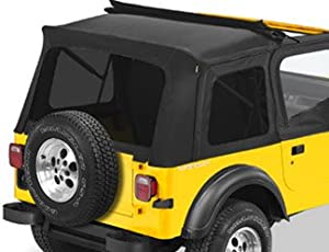 Bestop 58698-15 Tinted Window Kit BLACK DENIM for 1987-95 Jeep Wrangler With Sunrider Installed