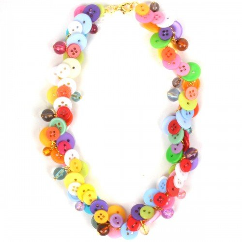 NeedyBee Button Hugging Necklace
