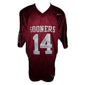 Sam Bradford Autographed Oklahoma Sooners (Maroon #14) Nike Jersey w  Heisman 08 by PalmBeachAutographs.com