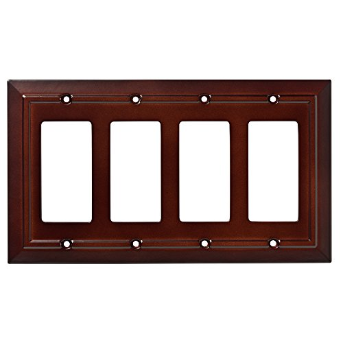 Franklin Brass W35252-ESO-C Classic Architecture Quad Decorator Wall Plate/Switch Plate/Cover, Espresso (Espresso Wall Plate compare prices)