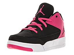 Nike Jordan Kids Jordan Flight Origin 3 Bp Black/Black/Vivid Pink/White Basketball Shoe 2 Kids US