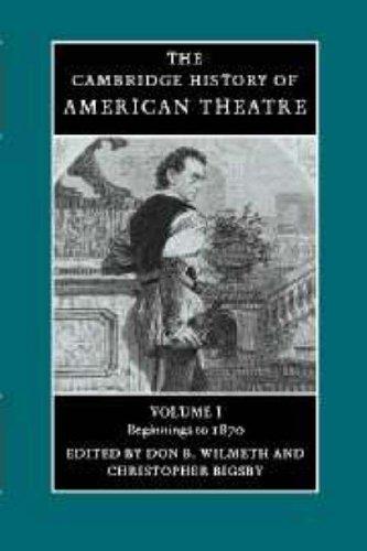 The Cambridge History Of American Theatre (Volume 1) front-1001794