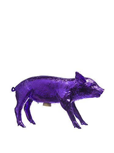 Areaware Bank in the Form of a Pig Purple Chrome - 1
