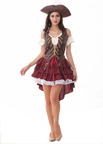 NonEcho Halloween Costumes for Women Beauty Pirate Costume Party Outfit