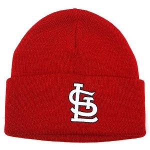 Top Mlb St.louis Cardinals Cuffed Beanie Red Hat-winter Knit Cap