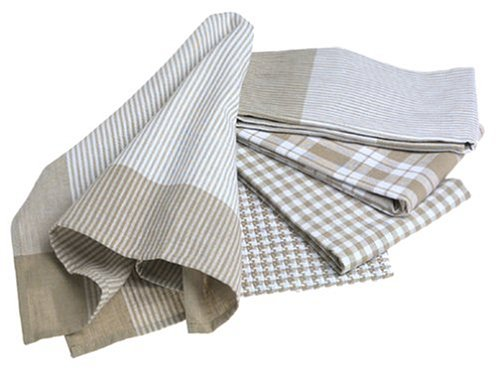 Kitchen Basic 5-Piece Kitchen Towel Set, Linen - Buy Kitchen Basic 5-Piece Kitchen Towel Set, Linen - Purchase Kitchen Basic 5-Piece Kitchen Towel Set, Linen (Bardwill, Home & Garden, Categories, Kitchen & Dining, Kitchen & Table Linens, Dish Cloths & Dish Towels)