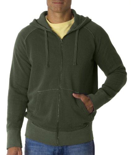 Chouinard 1564 Men's Heavyweight Frayed Full-Zip Hoodie Sweatshirt M Hemp Pgmdye