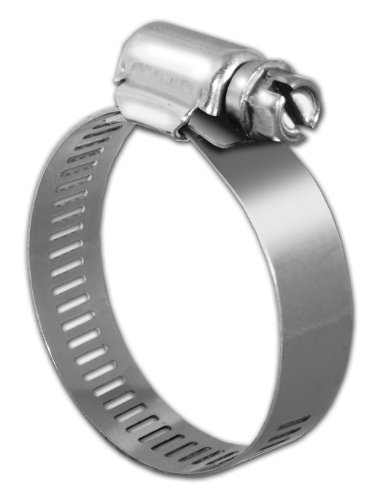 Pro Tie 33025 SAE Size 188 Range 9-3/8-Inch-12-1/4-Inch Regular Duty All Stainless Hose Clamp, 6-Pack