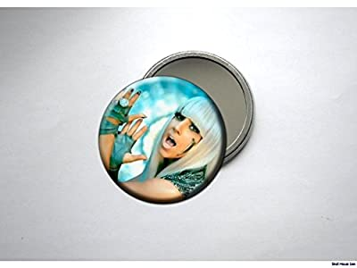 LADY GAGA green Pocket /Purse Mirror