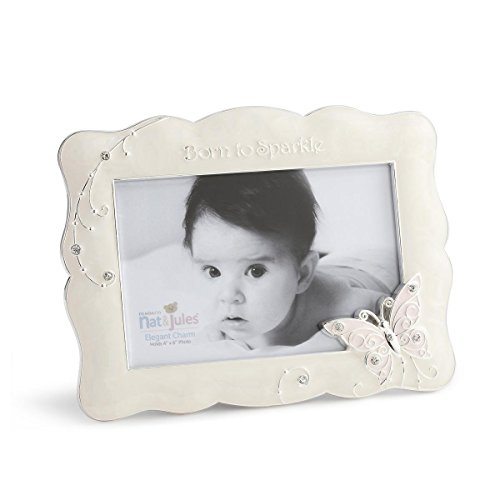 "DEMDACO Butterfly Photo Frame, Born To Sparkle, 4""x6"""