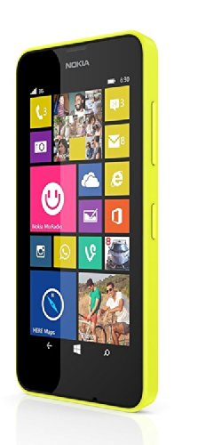 Windows Phone Nokia Lumia 630 Dual SIM RM-978 SIMフリー 海外携帯 (Yellow イエロー)