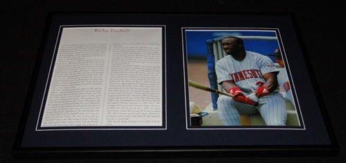 Kirby Puckett Minnesota Twins Framed 12X18 Photo Display front-631992