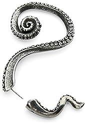 Silver Phantom Jewelry Women's Octopus Tentacle Ear Cuff Wrap Earring