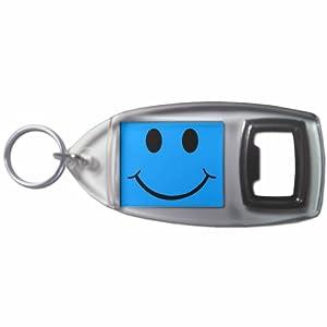 Blue Smiley - Botella plástica del anillo dominante del abrelatas