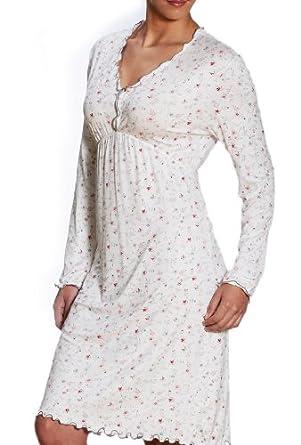 mey damen langarm nachthemd elle 11612 champagner 46 bekleidung. Black Bedroom Furniture Sets. Home Design Ideas