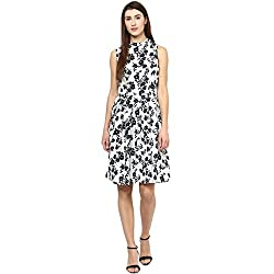 Bhama Couture Black And White Floral Dress Medium