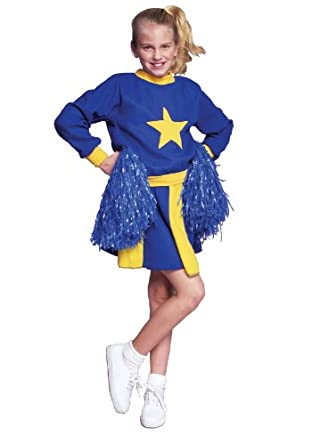 RG_COSTUMES Unisex Adult Cheerleader-bl/yl-large