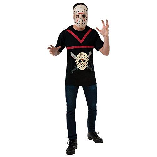 GSG Jason Vorhees Costume Friday The 13th Hockey Mask & Shirt Halloween Dress (Friday The 13th Jason Teen Costume)