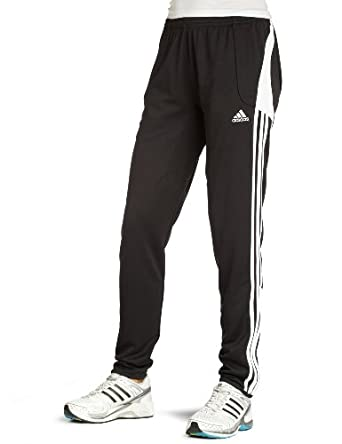 adidas Women's Condivo Training Pant (Black, White, Large)