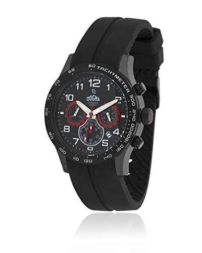 Dogma Reloj con movimiento cuarzo suizo Dgcrono-342R Negro 45  mm
