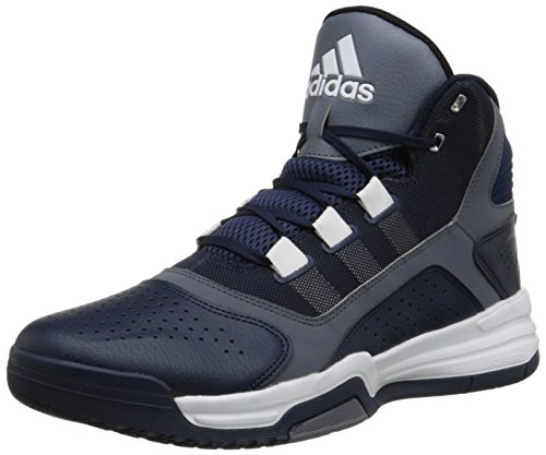 adidas Performance Men's Amplify Basketball Shoe, Collegiate Navy Blue/Grey/White, 14
