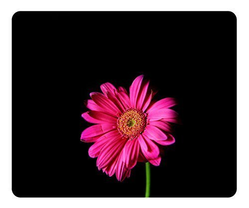 Gaming Mouse Pad Oblong Shaped Mouse Mat Design Hot Pink Gerber Daisy Natural Eco Rubber Durable Computer Desk Stationery Accessories Mouse Pads For Gift Support Wired Wireless or Bluetooth Mouse