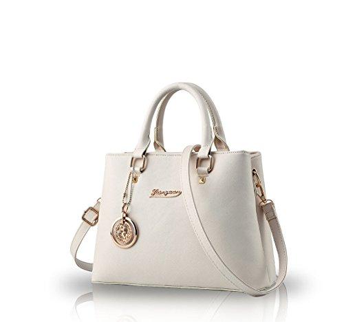 Nicole&Doris Sacs š€ main occasionnels femmes sac diagonale 2016 sacs š€ main tendance de la mode šŠpaule sac š€ main(Creamy-white)