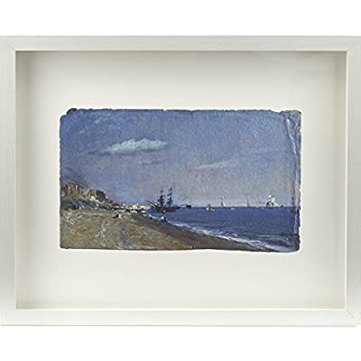 Brighton Beach, with Colliers by John Constable (Framed Print)||EVAEX