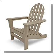Classic Recycled Plastic Adirondack Chair Sand