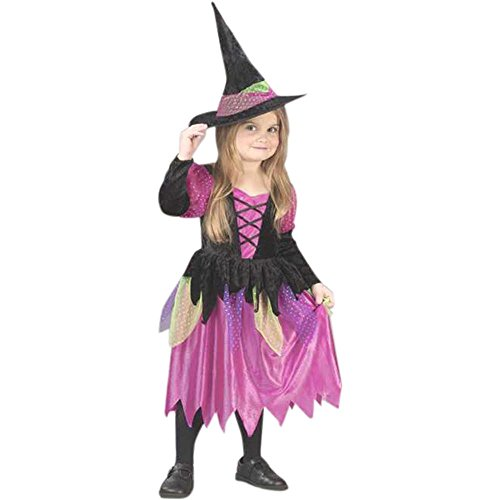 Toddler Rainbow Witch Costume (Size: 2T)