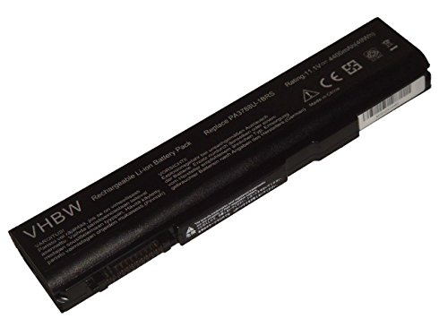 vhbw Li-Ion Batterie 4400mAh (10.8V) pour ordinateur portable, Notebook Toshiba Dynabook Satellite K46 266E/HD, K46 266E/HDX comme PABAS223.