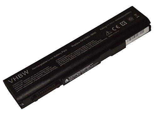 vhbw Li-Ion Batterie 4400mAh (10.8V) pour ordinateur portable, Notebook Toshiba Tecra A11-1EG, A11-1EH, A11-1ET, A11-1EV, A11-1EW comme PABAS223.