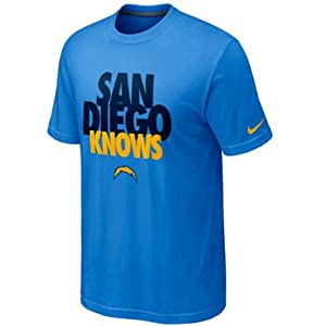 Nike San Diego Chargers Knows Draft T-Shirt - Powder Blue by Nike