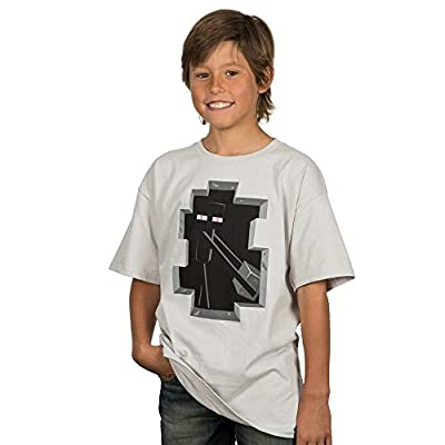 Minecraft Enderman Inside Youth Tee Silver Youth Large
