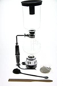 JustNile Classic 5 Cup Tabletop Siphon (Syphon) Coffee Maker (Alcohol Burner)