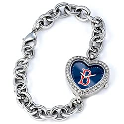 MLB Women's MH-BOS Heart Collection Boston Red Sox Watch
