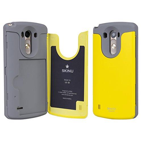 LG G3 Case, SKINU [Yellow] LG G3 Credit Card
